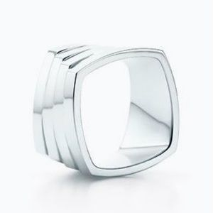 🖤Tiffany & Co Frank Gehry Silver Square Step Ring